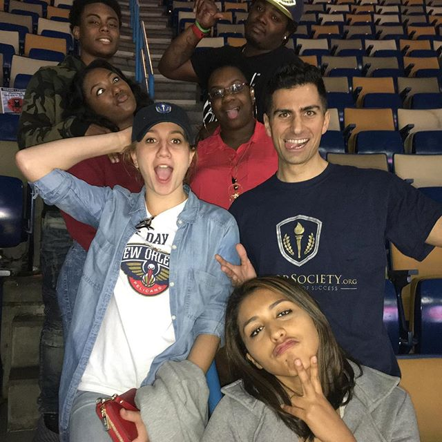 Just playing around after the #pelicans game! Great time out with Loyola New Orleans HonorSociety.org members - HonorSociety.org